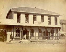 General view of the exterior of the Parsi Virbaiji School, Karachi